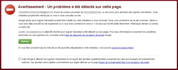Pandaranol avertissement logiciels malveillants